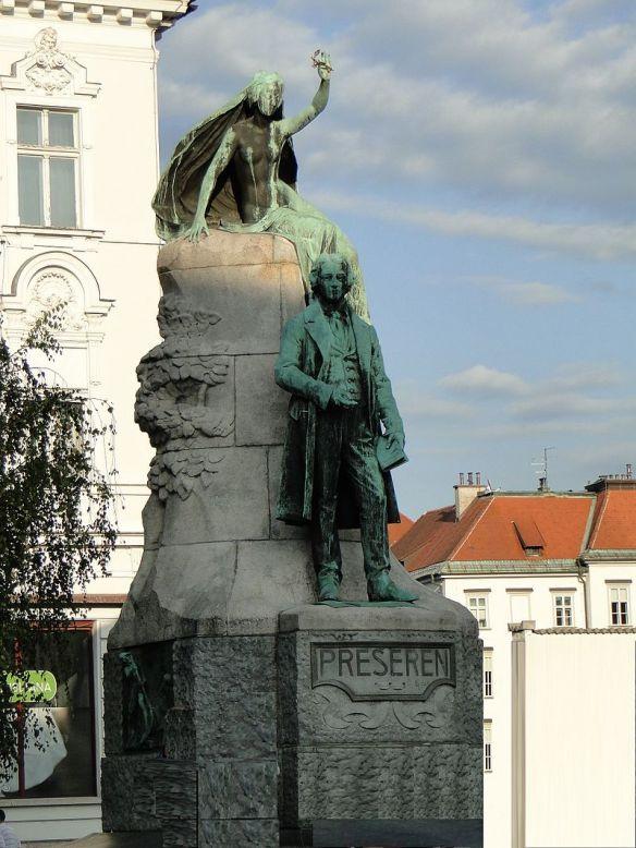 Preseren Monument in Preserenov Trg - Ljubljana