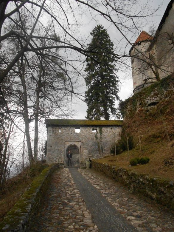 Stepping stones - Entrance to Bled Castle