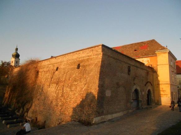 The City Walls of Gyor at sunset