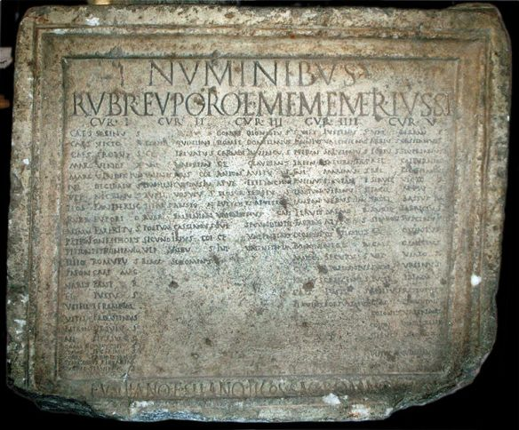 Ancient tablet - Listing Roman citizens of Savaria