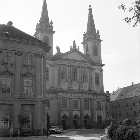 Szombathely Cathedral in 1961