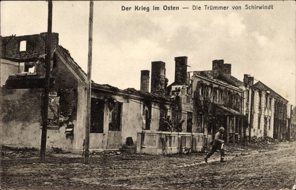 World War I damage in Schirwindt