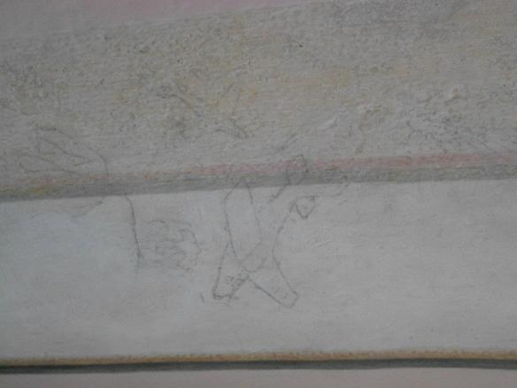 Drawing room - A Russian soldiers drawings at Esterhaza