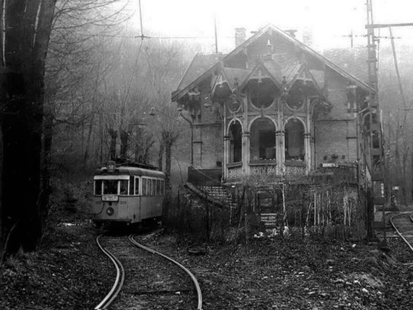 Abandoned Zugligeti Railway Station in Hungary