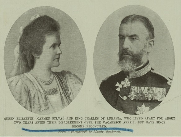 Queen Elisabeth of Romania and Carol I of Romania