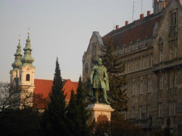 Szechenyi Ter - At dusk in Sopron