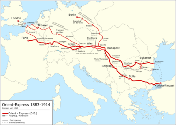 The Early Years - Routes of the Orient Express 1883 - 1914