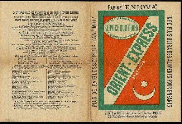 The first Orient Express brochure from 1887