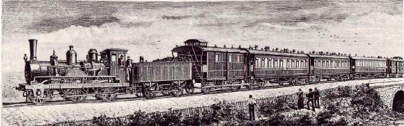 The first run of the Orient Express in 1883
