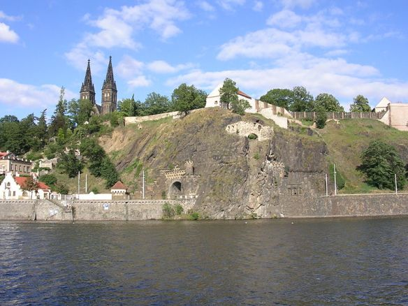 Vysehrad as seen from the Vltava River