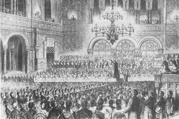 Adulation & adoration - 1839 concert by Liszt in Pest