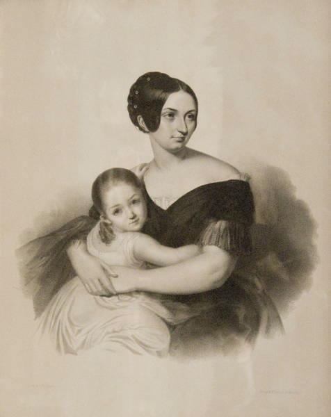 Countess Caroline Sayn-Wittgenstein with her daughter Maria in 1840