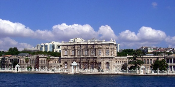Dolmabache Palace as seen from the Bosphorus