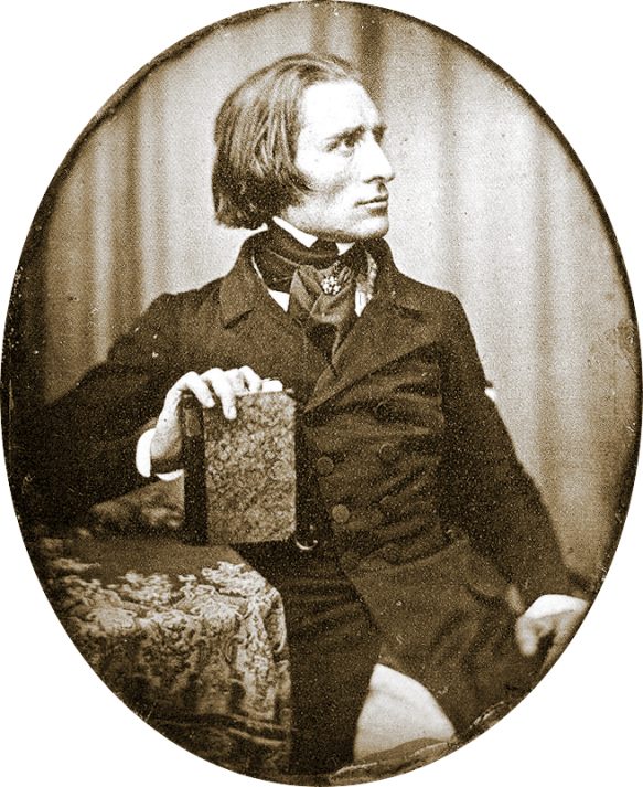 Franz Liszt in 1843 - Earliest known photo