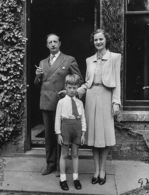 Royal Family Without A Country - King Zog, Queen Geraldine, and Crown Prince Leka in exile