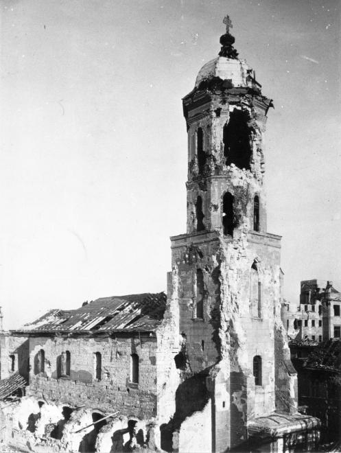 Casualty of war - Tower of the Church of Mary Magdalene