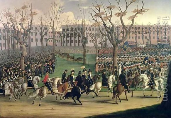 Dress parade of the United States Army in New York for Lajos Kossuth - December 6, 1851