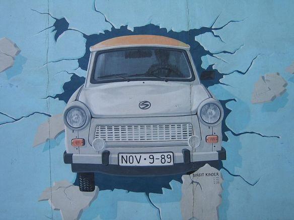 Crashing Through - A Trabant on the Berlin Wall