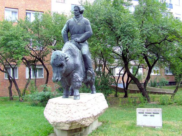 Eastern Transport - Statue of Sandor Korosi Csoma riding a yak