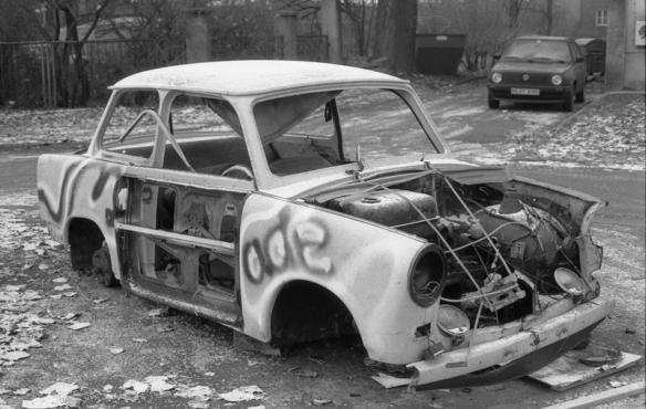 Freedom Rider - Abandoned Trabant in Leipzig