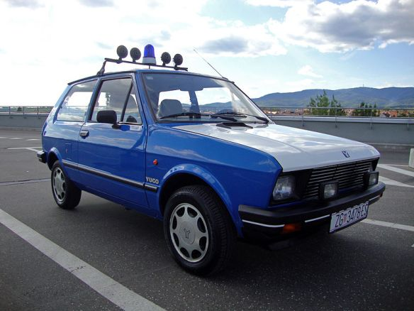 Running down a dream - Yugo police car in Croatia
