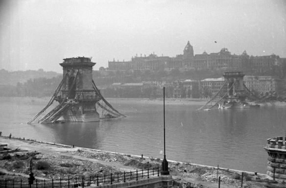 What lies beneath - Danube River at Budapest in 1945
