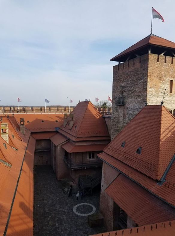 Descent into perfection - Looking down into the courtyard of Gyula Castle