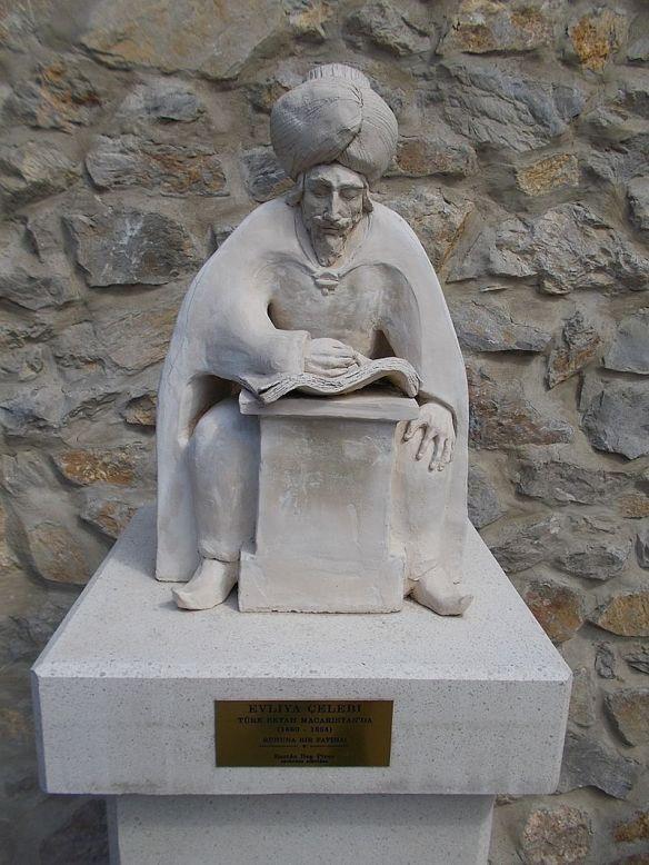 Ottoman Traveler - Evliya Celebi statue in Eger Hungary