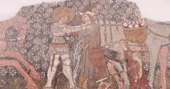 Saint Ladislaus apprehending a Cuman Warrior