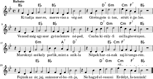 Szekely Himnusz (Szekely National Anthem)