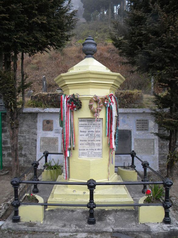 Tomb and Memorial of Alexander Csoma de Korosi at Darjeeling