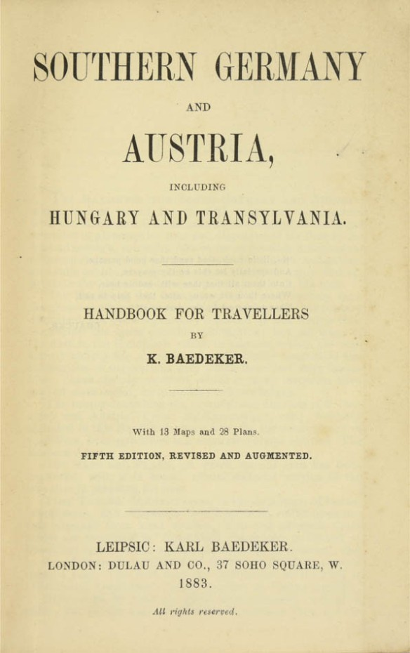 An Eastern Opening - Baedeker's Southern Germany and Austria including Hungary and Transylvania