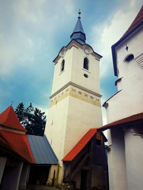 Keeping time - The bell tower at the Fortified Church of Szekelyderzs