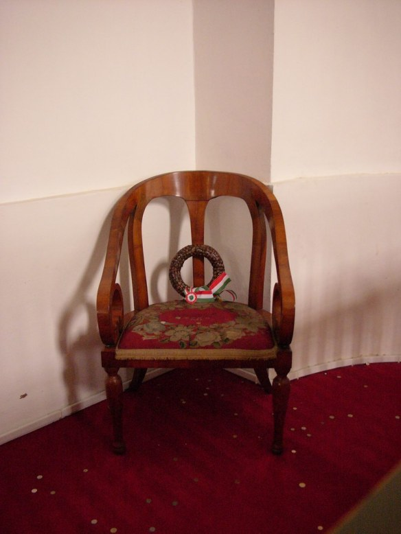 Kossuth's Chair - In the Great Reformed Church of Debrecen