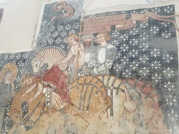 Preserved by trust - 15th century fresco inside the church at Szekelydersz