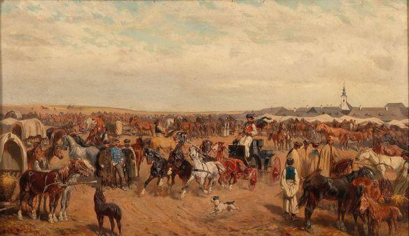 Stock market - Horse market near Debrecen