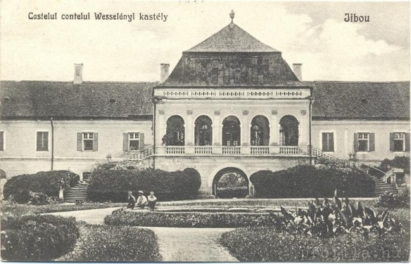 A Chateau & A Park - Wesselenyi Kastely in the early 20th century