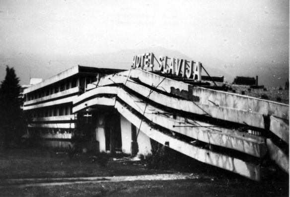 Damaged goods - Hotel in Budva following the 1979 Montenegro