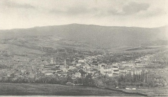 Looking back - Panorama of Zilah in 1903