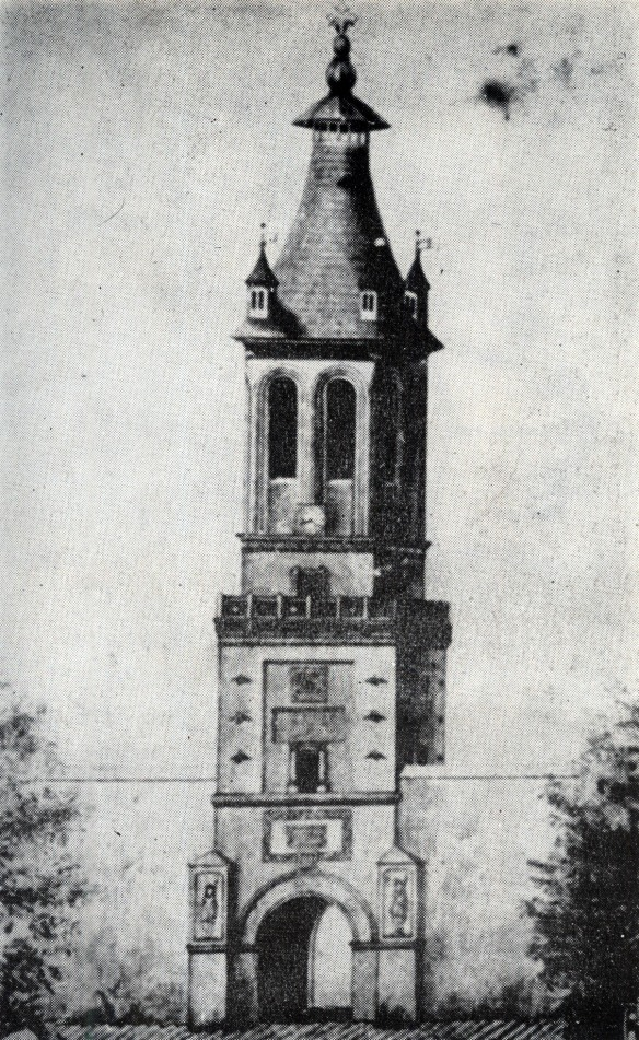 Ready To Be Toppled - The Coltea Tower prior to the Vrancea Earthquake of 1802