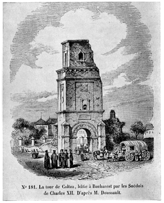 The Mighty Have Fallen - The Coltea Tower after the 1802 earthquake