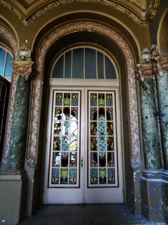Indefinite Closure - Stained glass doors at Constanta Casino