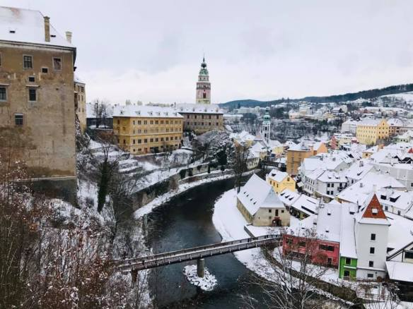 Bending to the Rivers Will - Cesky Krumlov's Castle complex & Old Town border the Vltava River