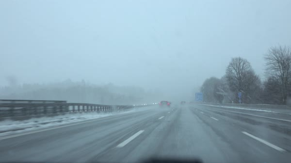 Difficult Driving - Less than desirable road conditions in Austria