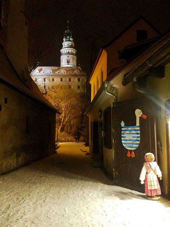 Cobblestones Covered In Snow - Cesky Krumlov in January
