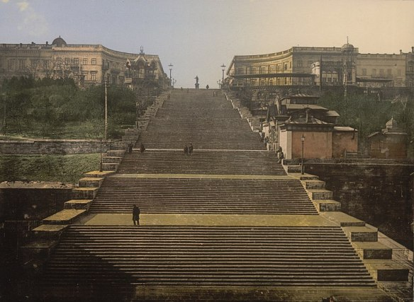 A Stairway To The City - The Potemkin Stairs in 1905
