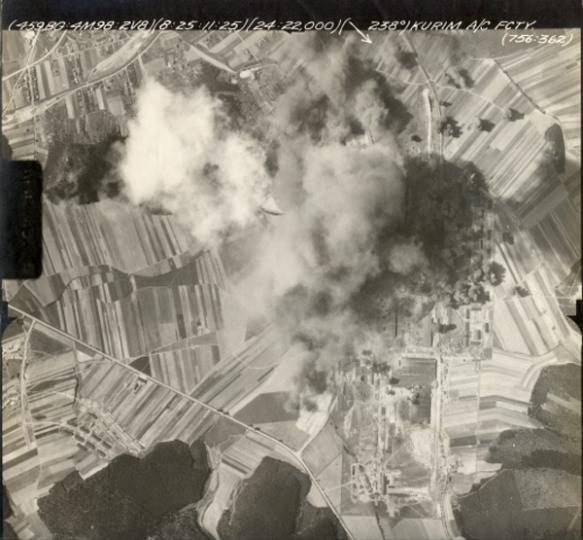 Bombed Away - Aerial Image from Allied Bombing of Brno in August 1944