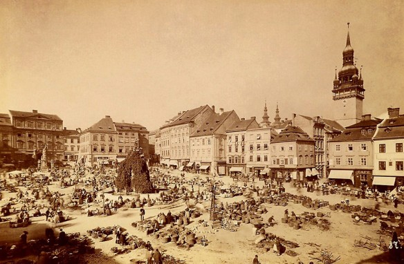 Self-Centered - Brno's Zelný Square during the late 19th century