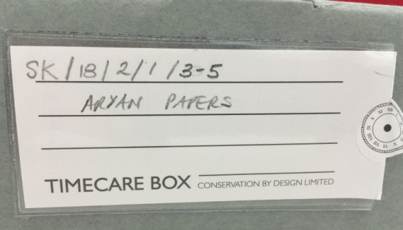Unfinished Project - Archival box of materials from Stanley Kubrick's Aryan Papers at the University of Arts in London