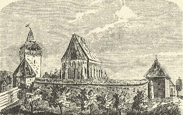 An Image Of The Past - The Fortified Church at Szekelyderzs from Balazs Orbans A Szekelyfold Leirasa